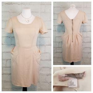 Forever21 S Blush Pink Short Sleeve Dress Pockets